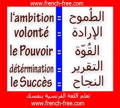 صورة تعلم الكلمات الفرنسية