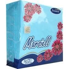 <b>Premial</b> Marsiel <b>Салфетки декоративные</b> 2-слойные цветные 50 шт