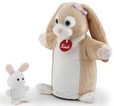 "<b>Мягкая игрушка</b> на руку ""Зайчиха с зайчонком"", 24x23x9 см ..."