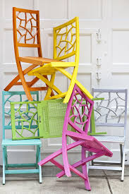 the fifi folding chair bright coloured furniture