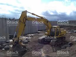 big machine at construction job site stock photo istock big machine at construction job site royalty stock photo