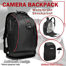 DSLR SLR <b>Camera Backpack</b> Bag Case Waterproof <b>Shockproof</b> for ...