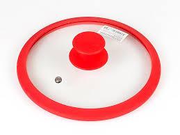 <b>Крышка</b> стеклян. с силикон/обод <b>24см</b> красная <b>TimA</b>: продажа ...