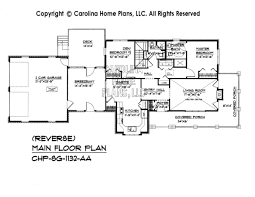 Small Brick Country House Plan SG  Sq Ft   Affordable Small    SG  Reverse Main Floor Plan