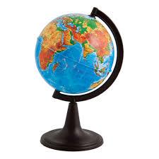 <b>Глобус Глобусный Мир физический</b> 12 см на круглой подставке ...