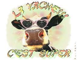 """Résultat de recherche d'images pour """"Gif de vaches avec des fleurs"""""""