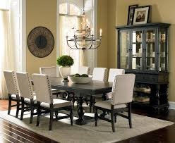 Silver Dining Room Set Steve Silver Leona Cottage Rectangular Antique Black Dining Table