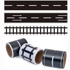 DIY <b>Railway Road Play traffic</b> Tape Sticker Wide Creative Roads ...
