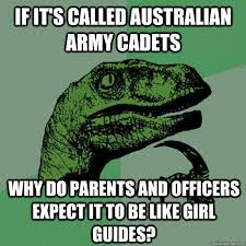 If it's called Australian army cadets why do parents and officers ... via Relatably.com