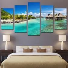 <b>5 piece</b> wall art canvas painting <b>HD print</b> seasight seascape beach ...