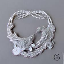 Beaded jewelry, <b>Seed bead</b> necklace, Handma…
