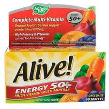 Nature's Way, <b>Alive</b>! <b>Energy 50</b>+, <b>Multivitamin</b>-<b>Multimineral</b>, For ...