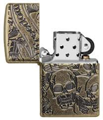 "<b>Зажигалка</b> ""<b>Zippo</b>. <b>Armor™"" с</b> покрытием Antique Brass, латунь ..."