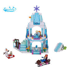 316Pcs <b>Dream Princess Castle Elsa</b> Ice Castle Princess Anna Set ...