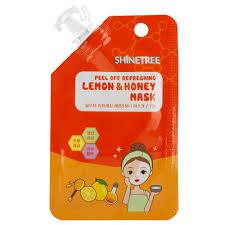<b>Маска для</b> лица `SHINETREE` Лимон и мед (<b>освежающая</b>) 15 мл