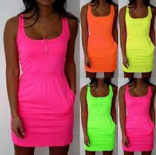 S <b>5XL 2019</b> New <b>Summer</b> Party Beach <b>Women</b> Cute Casual Neon ...