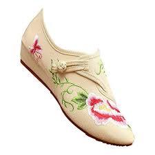 KINDOYO <b>Old Beijing</b> Shoes - <b>Pointed</b> Peony <b>Flower</b> Buckle Anti ...