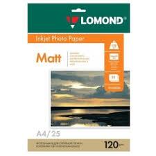 «Фотобумага <b>Lomond матовая</b> односторонняя A4, 120г/м, 25л ...