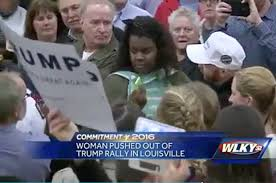 Image result for racial images at donald trump rallies