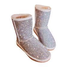 <b>Bling Crystals Women</b> Warm Fur Snow Boots 2018 Handmade ...