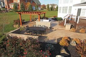 patio landscaping distinct backyard