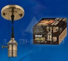 <b>Vintage</b> Uniel 8327 <b>Патрон декоративный Е27</b> С провод. c Выкл ...
