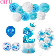 <b>QIFU</b> Blue Boy 2nd <b>Birthday</b> Decoration Pink Girl 2 <b>Birthday</b> ...
