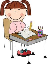 student in desk
