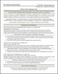 Sample Resume  Resume Sle Of Executive Assistant Mr  Resume
