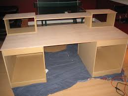 build homemade office desk how to build computer desk bnib ikea oleby wardrobe drawer