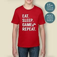 Boy's <b>Eat Sleep Game Repeat</b> Shirt, Gifts For Him, Christmas Gift ...