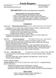 images about clerical resumes on pinterest   resume    resume sample customer service receptionist