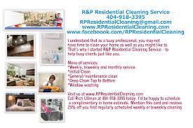 r p residential cleaning service atlanta ga flyer r p residential cleaning service atlanta ga flyer