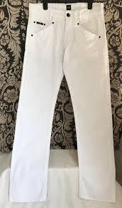 Белые ♥️  ♥️ хлопковые льняные <b>брюки джинсы hugo</b> boss. на ...