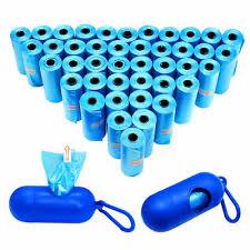 Blue <b>Pet Dog Poop Bags</b> with <b>Waste Bag</b> Holder Scoop Leash ...