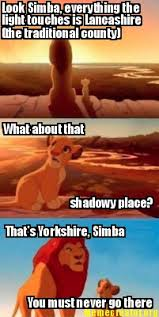 Meme Creator - Look Simba, everything the light touches is ... via Relatably.com