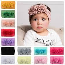 2019 <b>new Hot selling</b> Chiffon baby hairdress <b>super</b> soft nylon floral ...