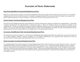 sample cv vision statement coverletter for jobs