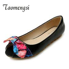 large size 41 42 43 flat shoes ladies butterfly knot casual genuine leather women fashion boat womens