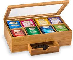 Bamboo Tea Storage Box - Natural Wood Tea Chest ... - Amazon.com