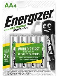 Аккумулятор <b>Energizer</b> Universal 1300 NH15/AA, <b>4</b> шт. <b>Energizer</b> ...