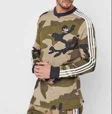 Новые мужские Adidas Originals <b>Camo</b> трилистника с длинным ...