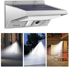 Solar Lights Outdoor Motion Sensor, iThird <b>LED Solar Powered</b> ...