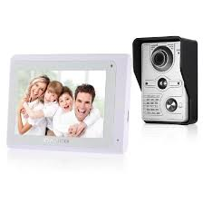 Shop OWSOO <b>7 inch Wired</b> Video Doorbell <b>Wifi</b> Indoor Monitor with ...