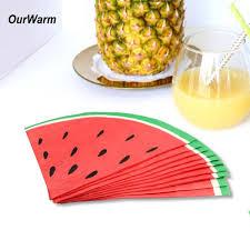 <b>OurWarm</b> Hawaiian Party Supplies <b>20Pcs</b> Cute <b>Watermelon Paper</b> ...