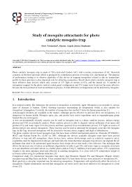 (PDF) Study of <b>mosquito</b> attractants for photo catalytic <b>mosquito trap</b>