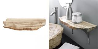 39 natural petrified wood shelf build floating shelves