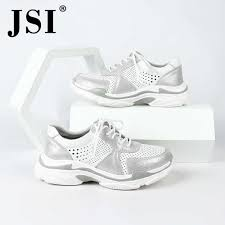 <b>JSI Woman</b> Shoes Gray Casual Flats <b>Genuine Leather</b> Light EVA ...