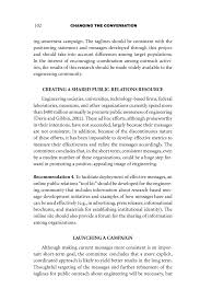 conclusions and recommendations changing the conversation page 102