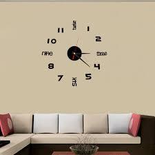 new qualified mini diy wall clock 3d sticker design home office room decor dec25 office decoration design home